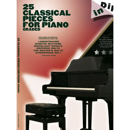 WISE PUBLICATIONS DIP IN - 25 GRADED CLASSICAL PIANO SOLOS - PIANO SOLO