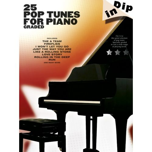 WISE PUBLICATIONS DIP IN - 25 GRADED POP PIANO SOLOS - PIANO SOLO