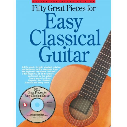 WISE PUBLICATIONS 50 GREAT PIECES FOR EASY CLASSICAL GUITAR - GUITAR TAB
