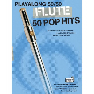 WISE PUBLICATIONS PLAYALONG 50/50 - FLUTE - 50 POP HITS - FLUTE