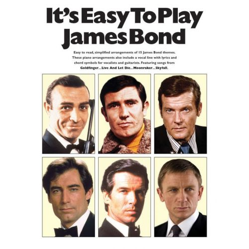 WISE PUBLICATIONS IT'S EASY TO PLAY JAMES BOND - PIANO SOLO