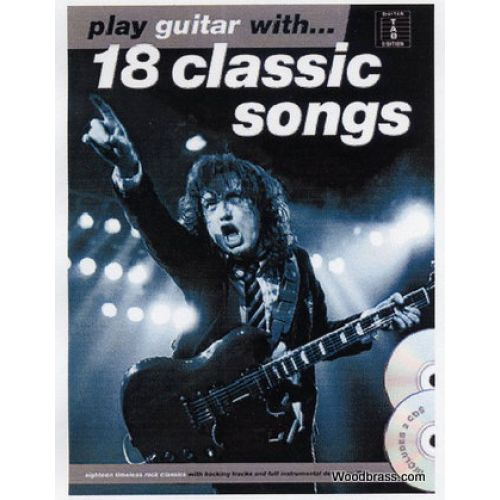 AMSCO PLAY GUITAR WITH - 18 CLASSICS SONGS TAB + CD