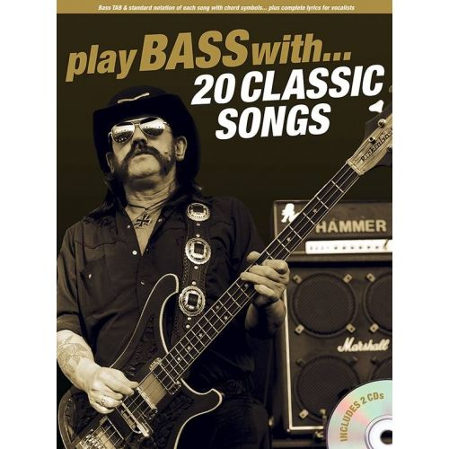 AMSCO PLAY BASS WITH - 20 CLASSIC SONGS + 2 CD