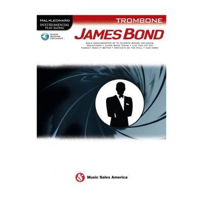 HAL LEONARD HAL LEONARD INSTRUMENTAL PLAY ALONG - JAMES BOND - TROMBONE