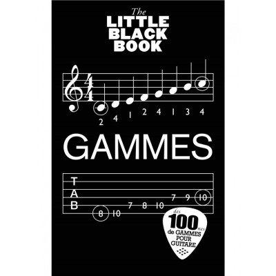 WISE PUBLICATIONS DICTIONNAIRE GAMMES GUITARE - LITTLE BLACK SONGBOOK - EDITION FRANCAISE