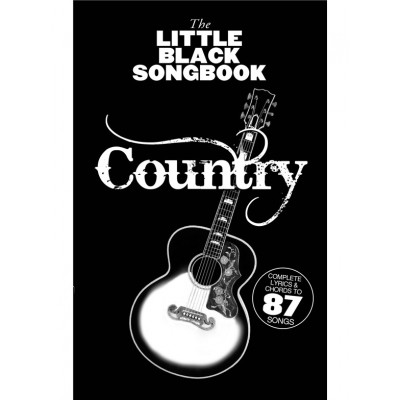 WISE PUBLICATIONS LITTLE BLACK SONGBOOK - COUNTRY - PAROLES & ACCORDS