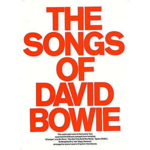 MUSIC SALES DAVID BOWIE - THE SONGS OF DAVID BOWIE - PVG