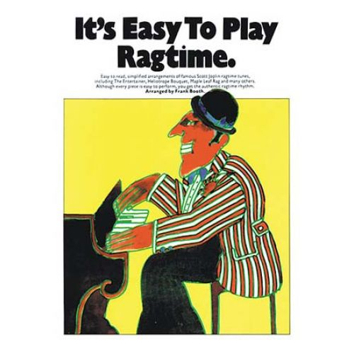 MUSIC SALES IT'S EASY TO PLAY RAGTIME- PIANO SOLO AND GUITAR