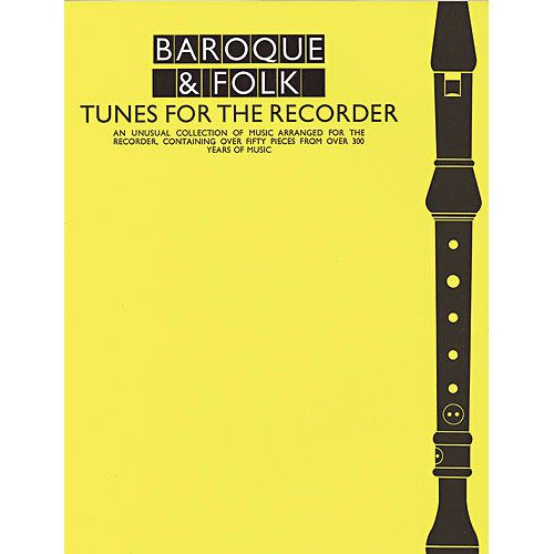 MUSIC SALES BAROQUE AND FOLK TUNES FOR THE RECORDER - RECORDER