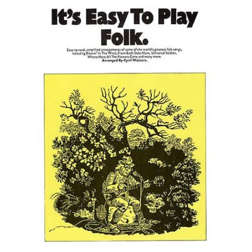MUSIC SALES IT'S EASY TO PLAY FOLK - PVG