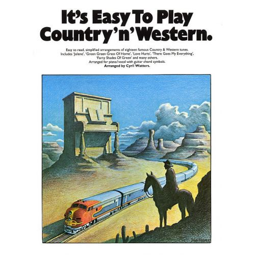 MUSIC SALES IT'S EASY TO PLAY COUNTRY 'N' WESTERN - PVG
