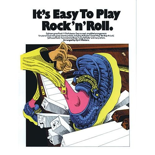 MUSIC SALES IT'S EASY TO PLAY ROCK 'N' ROLL - PVG