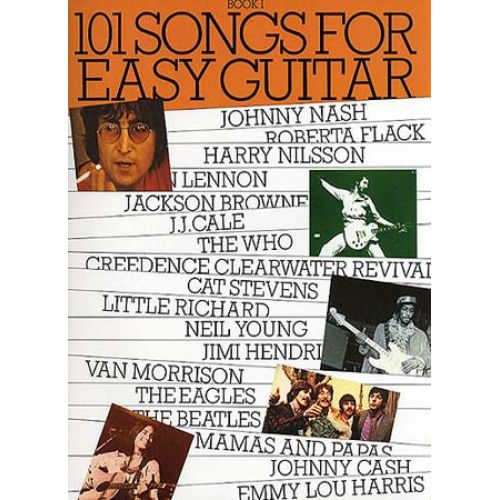 WISE PUBLICATIONS 101 SONGS FOR EASY GUITAR - V. 1 - MELODY LINE, LYRICS AND CHORDS
