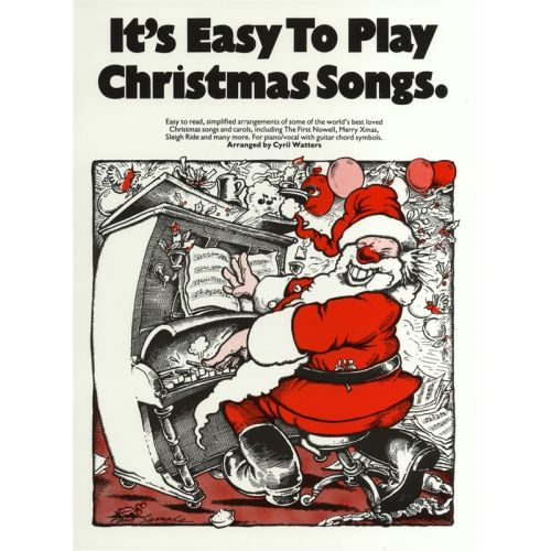 MUSIC SALES CYRIL WATTERS - IT'S EASY TO PLAY CHRISTMAS SONGS - PVG