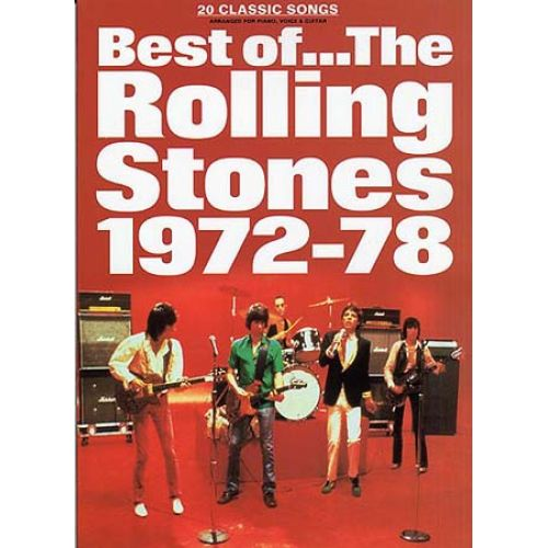 MUSIC SALES BEST OF THE ROLLING STONES 1972 - 78 - V. 2 - PVG