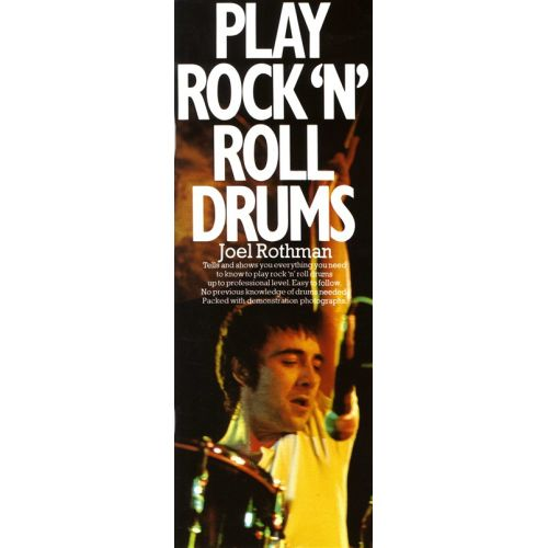 MUSIC SALES ROTHMAN JOEL - PLAY ROCK AND ROLL DRUMS-TUTOR/INSTRUCTION- DRUMS