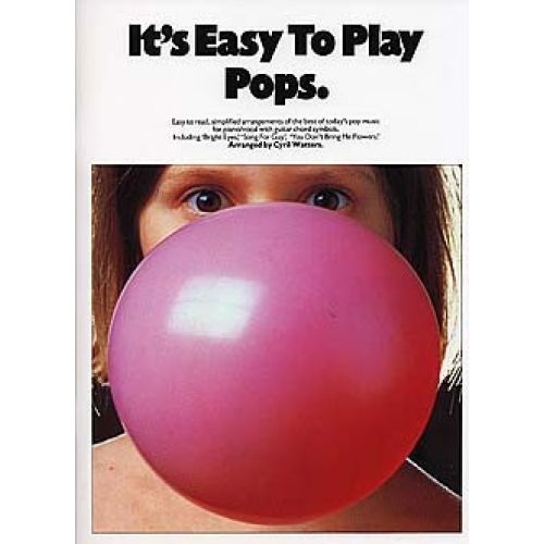 MUSIC SALES IT'S EASY TO PLAY POPS - PVG