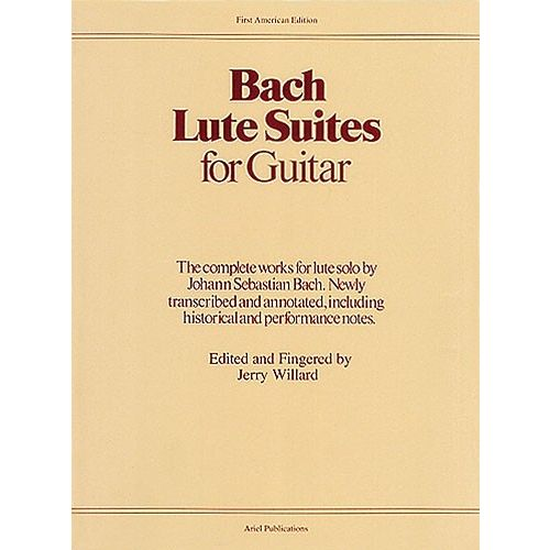 MUSIC SALES BACH LUTE SUITES FOR GUITAR - GUITAR
