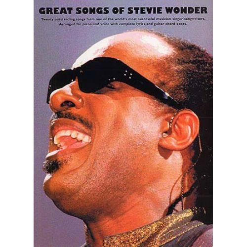 MUSIC SALES WONDER STEVIE - GREAT SONGS OF STEVIE WONDER - PVG