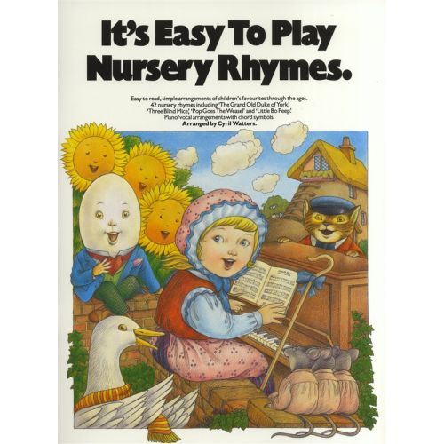 MUSIC SALES IT'S EASY TO PLAY NURSERY RHYMES - PVG