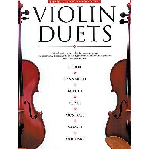 MUSIC SALES EVERYBODY'S FAVORITE SERIES 135 VIOLIN DUETS VLN- VIOLIN