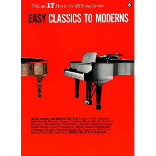 WISE PUBLICATIONS EASY CLASSICS TO MODERNS - PIANO SOLO