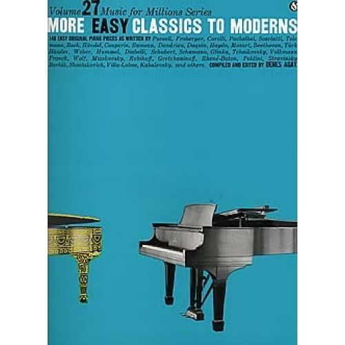 WISE PUBLICATIONS MORE EASY CLASSICS TO MODERNS - MUSIC FOR MILLIONS SERIES - PIANO SOLO