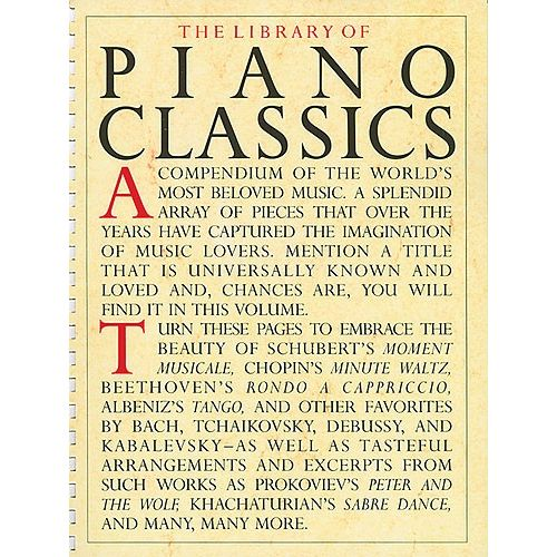 WISE PUBLICATIONS LIBRARY OF PIANO CLASSICS