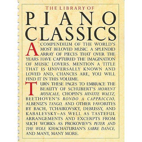 AMSCO THE LIBRARY OF PIANO CLASSICS - PIANO SOLO