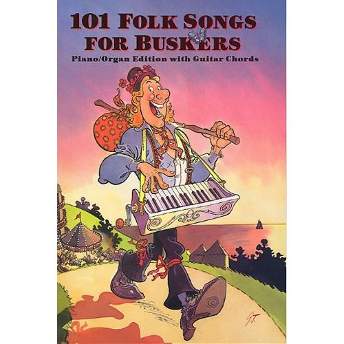MUSIC SALES EVANS PETER AND LAVENDER PETER - 101 FOLK SONGS FOR BUSKERS - MELODY LINE, LYRICS AND CHORDS