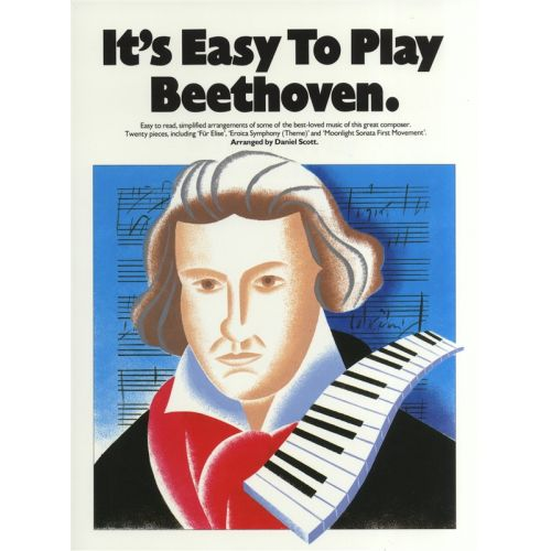 MUSIC SALES IT'S EASY TO PLAY BEETHOVEN - PIANO SOLO
