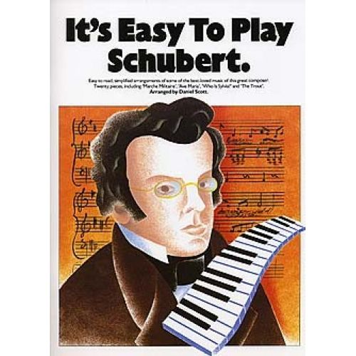MUSIC SALES IT'S EASY TO PLAY - SCHUBERT - PIANO SOLO