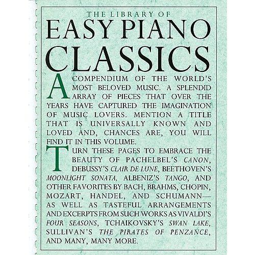 MUSIC SALES THE LIBRARY OF EASY PIANO CLASSICS PF B00K - PIANO SOLO