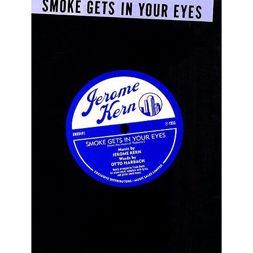 MUSIC SALES KERN SMOKE GETS IN YOUR EYES - PVG
