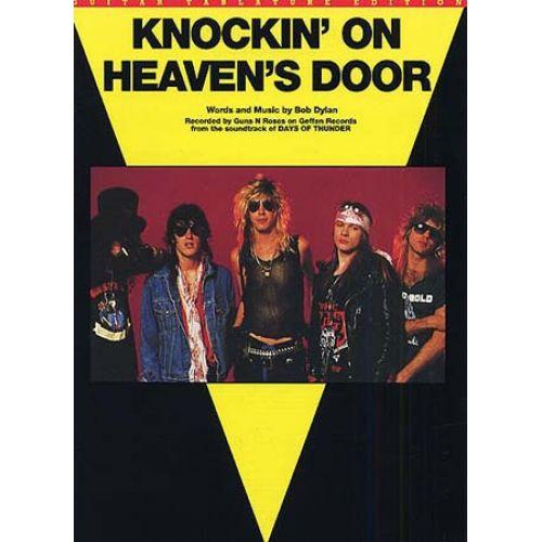 MUSIC SALES GUNS 'N' ROSES - KNOCKIN' ON HEAVEN'S DOOR - GUITAR TAB