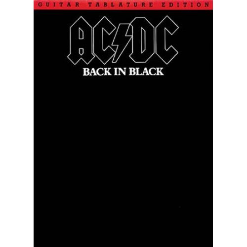 WISE PUBLICATIONS AC/DC - BACK IN BLACK - GUITAR TAB