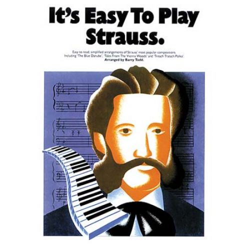 MUSIC SALES IT'S EASY TO PLAY STRAUSS - PIANO SOLO