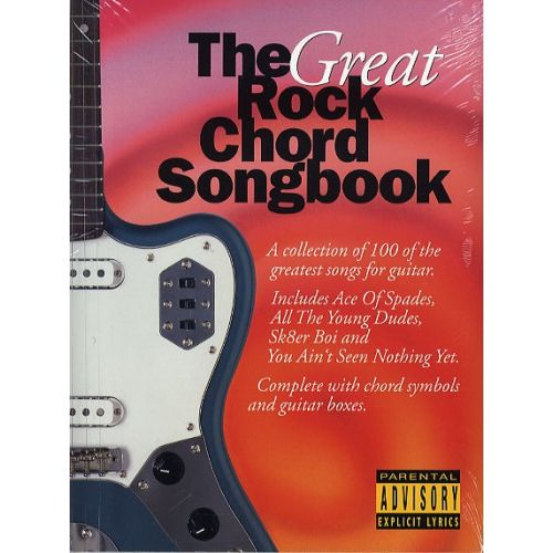 WISE PUBLICATIONS THE GREAT ROCK CHORD SONGBOOK - LYRICS AND CHORDS
