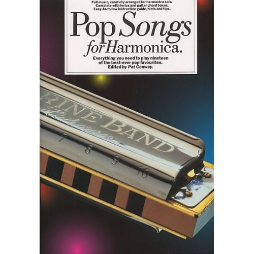 MUSIC SALES CONWAY PAT - POP SONGS - HARMONICA