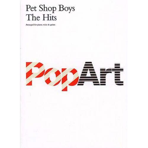 WISE PUBLICATIONS PET SHOP BOYS - POP ART - THE HITS-MUSIC - PVG