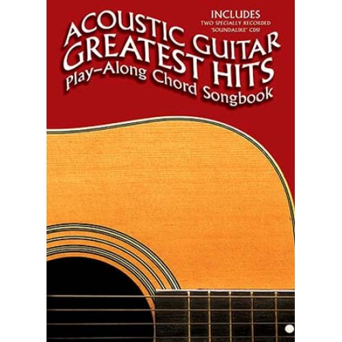 WISE PUBLICATIONS ACOUSTIC GUITAR GREATS HIT CHORD SONGBOOK VOL.2 AVEC CD - VOICE, GUITAR