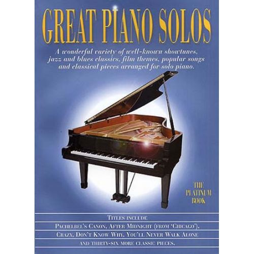 MUSIC SALES GREAT PIANO SOLOS - PLATINUM BOOK