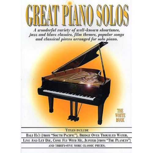 MUSIC SALES GREAT PIANO SOLOS - BLANC
