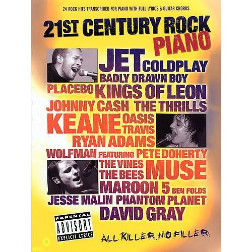 WISE PUBLICATIONS 21ST CENTURY ROCK PIANO - PVG