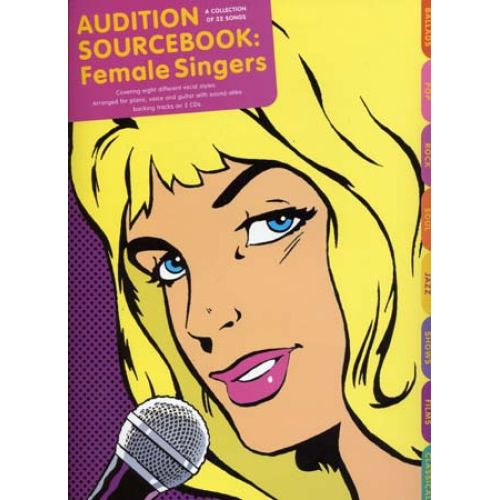 MUSIC SALES AUDITION SOURCEBOOK FEMALE SINGERS + 2CD