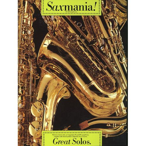 MUSIC SALES SAXMANIA! - GREAT SOLOS - THIRTEEN CLASSIC SOLOS - SAXOPHONE