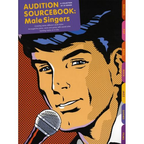 WISE PUBLICATIONS AUDITION SOURCEBOOK - MALE SINGERS-MUSIC BOOK WITH CD - PVG