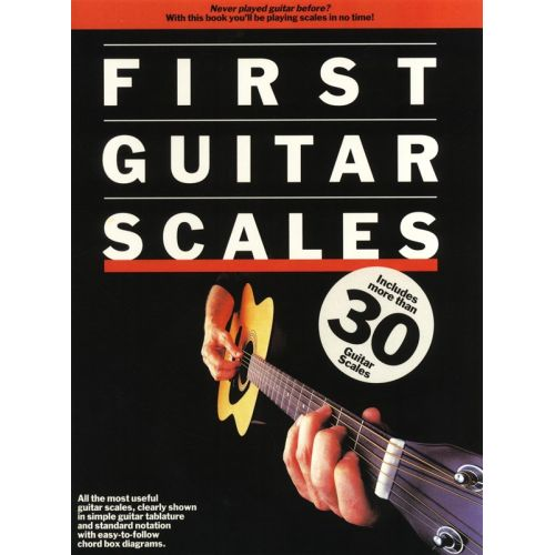 MUSIC SALES JONES ANDY - FIRST GUITAR SCALES - GUITAR TAB