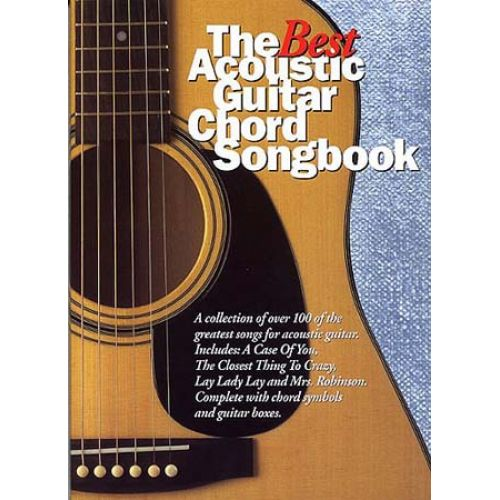 WISE PUBLICATIONS THE BEST ACOUSTIC GUITAR CHORD SONGBOOK - GUITARE