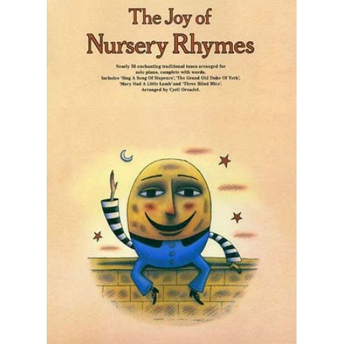 MUSIC SALES THE JOY OF NURSERY RHYMES - PIANO SOLO - PVG